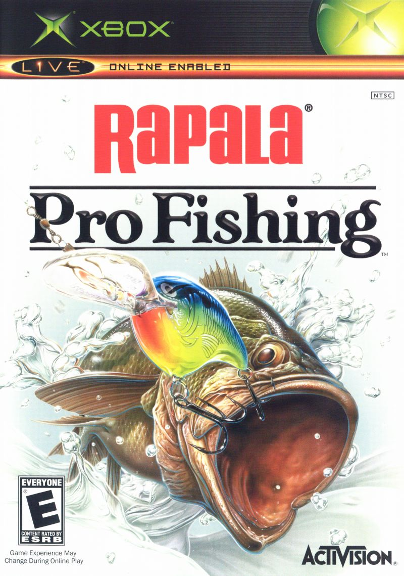 Rapala pro fishing 2004 xbox box cover art mobygames for Xbox fishing games