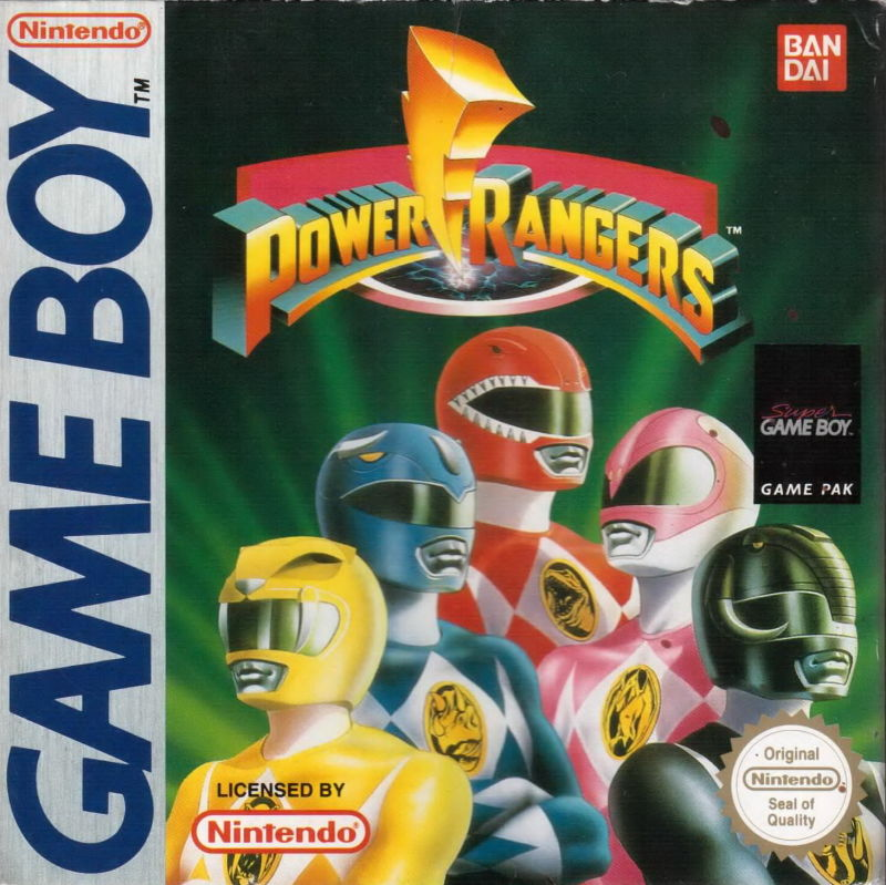 Mighty Morphin Power Rangers Game Boy Front Cover