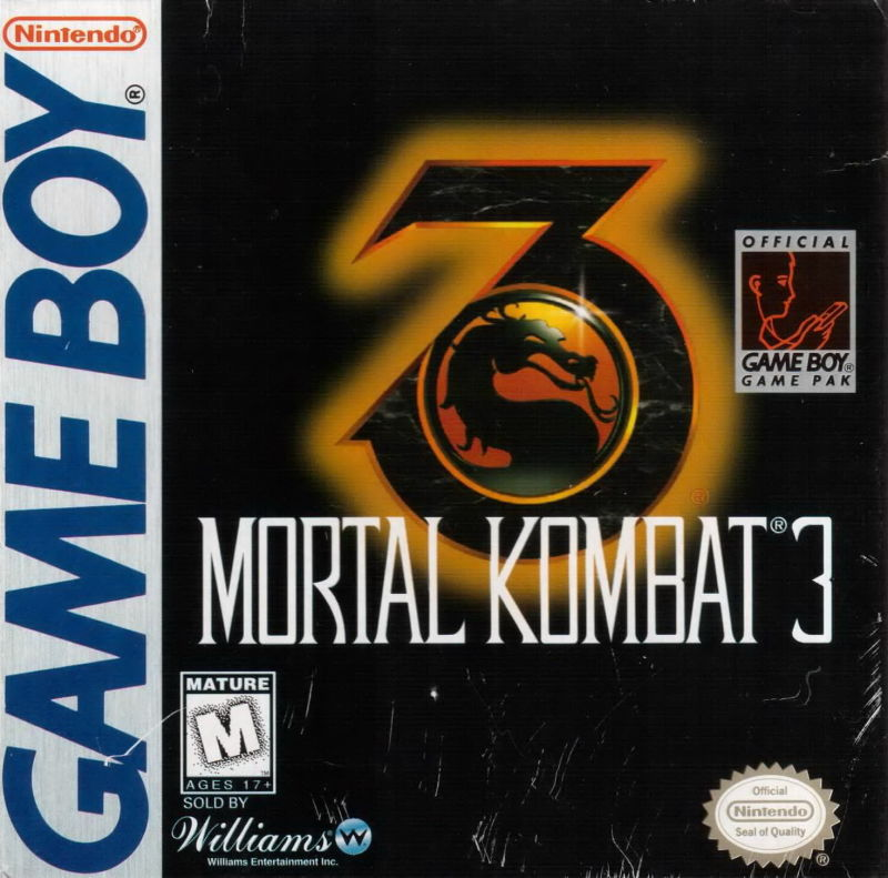 Mortal Kombat 3 Game Boy Front Cover