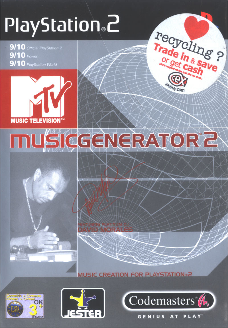 MTV: Music Generator 2 PlayStation 2 Front Cover