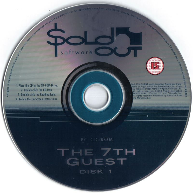 The 7th Guest DOS Media Disc 1/2