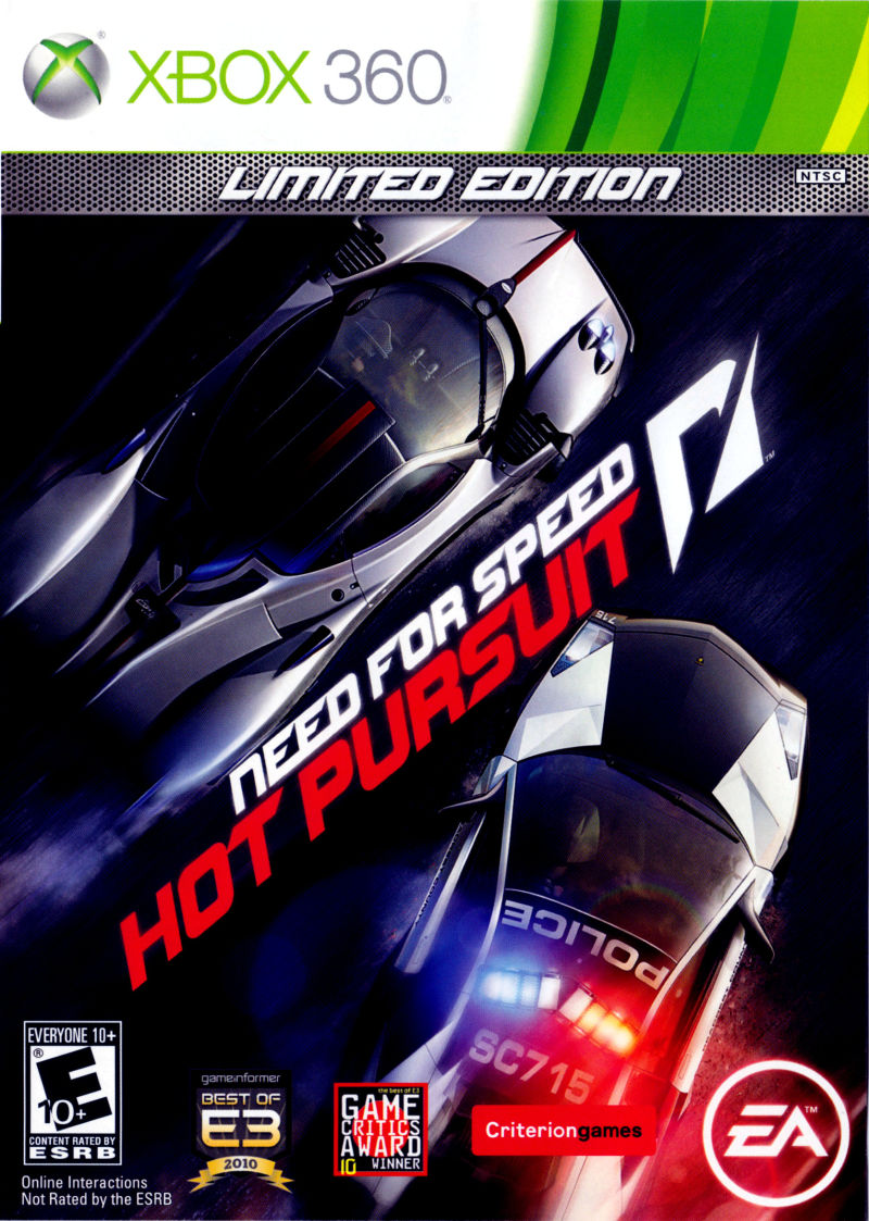 Need for Speed: Hot Pursuit (Limited Edition) Xbox 360 Front Cover