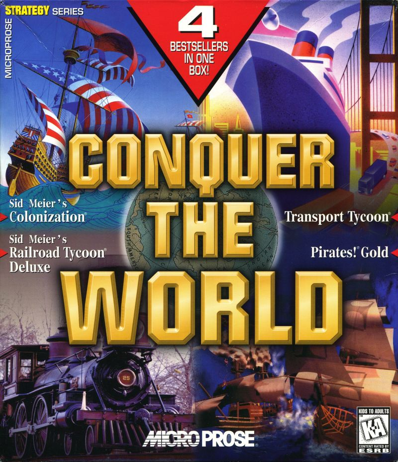 Conquer the World DOS Front Cover