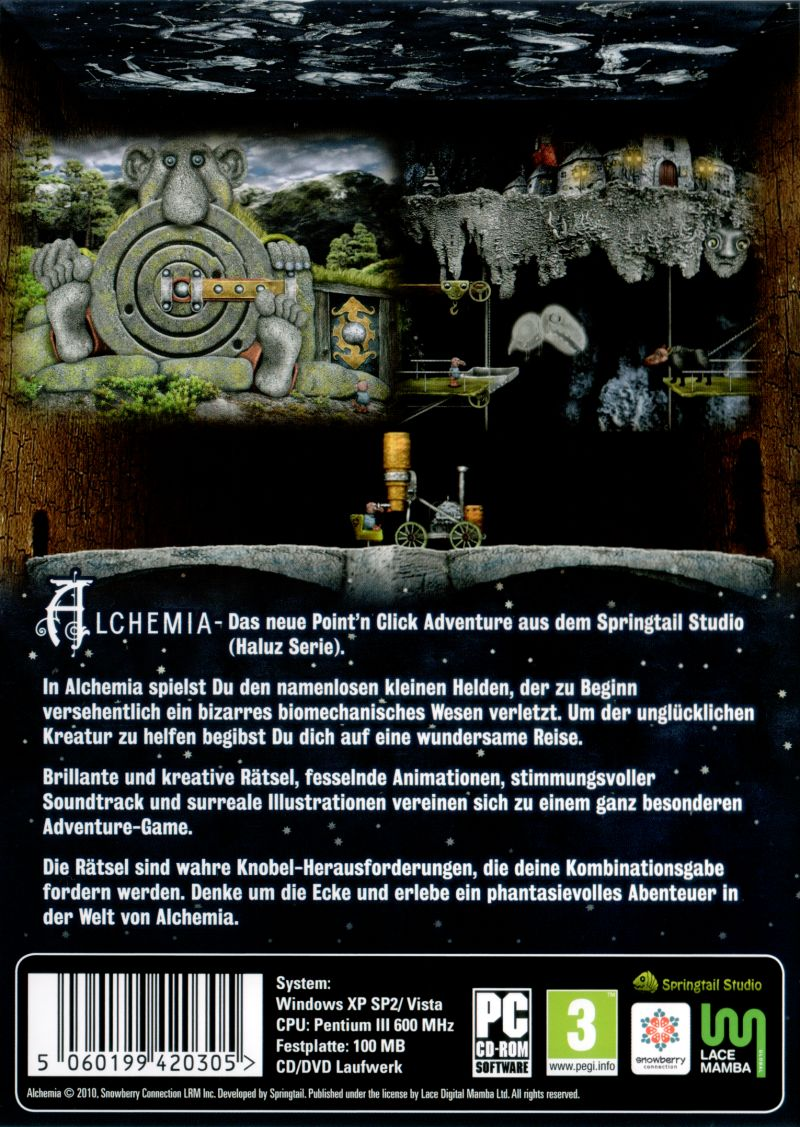 Alchemia: Extended Version Windows Back Cover