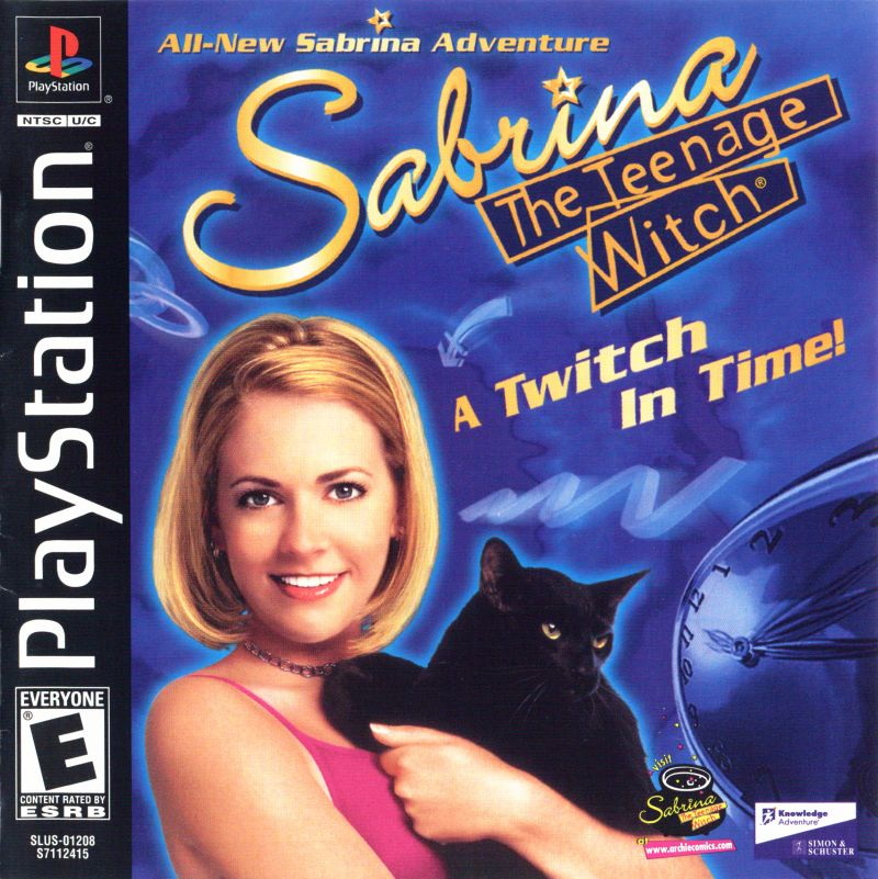 Sabrina, the Teenage Witch: A Twitch in Time! PlayStation Front Cover