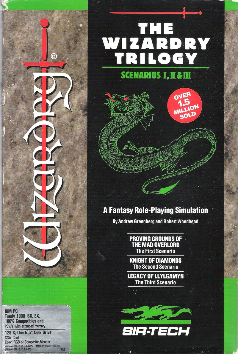 The Wizardry Trilogy: Scenarios I, II & III PC Booter Front Cover