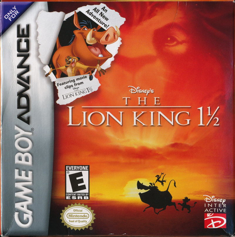 Disney's The Lion King 1 ½ Game Boy Advance Front Cover