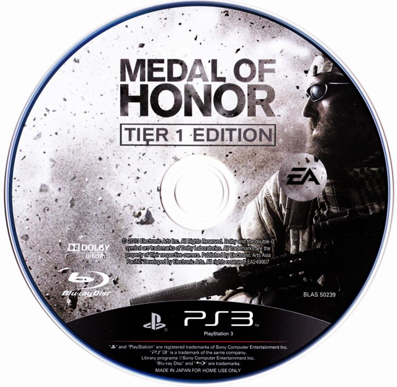 Medal of Honor (Tier 1 Edition) PlayStation 3 Media