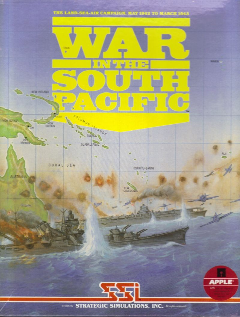 War in the South Pacific Apple II Front Cover