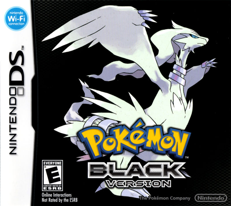 Pokémon Black Version Nintendo DS Front Cover