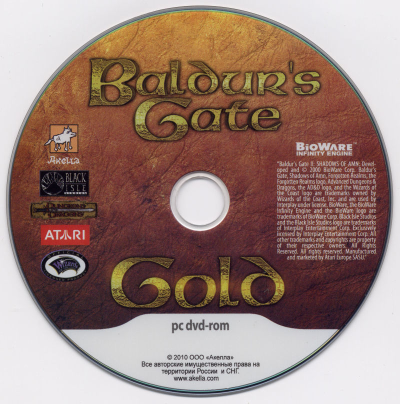 Baldur's Gate: 4 in 1 Boxset Windows Media