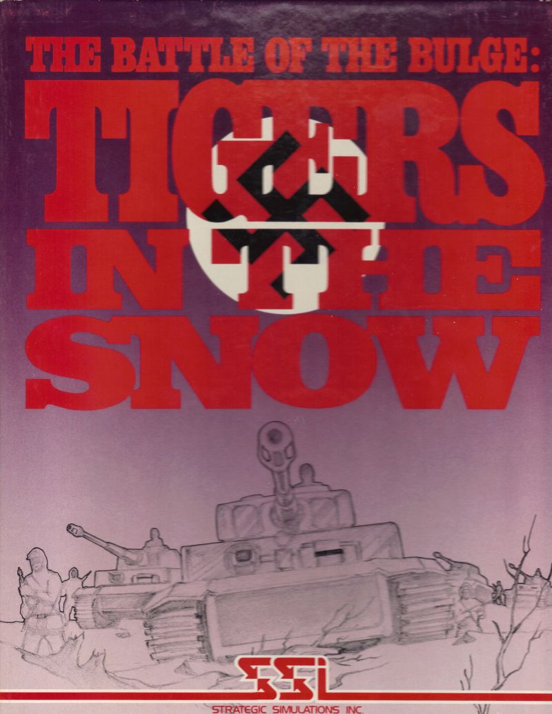 The Battle of the Bulge: Tigers in the Snow Apple II Front Cover