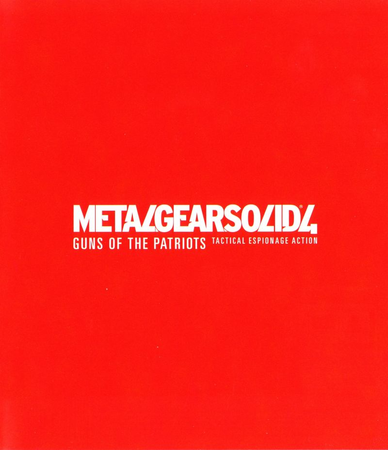 Metal Gear Solid 4: Guns of the Patriots PlayStation 3 Inside Cover Right Side