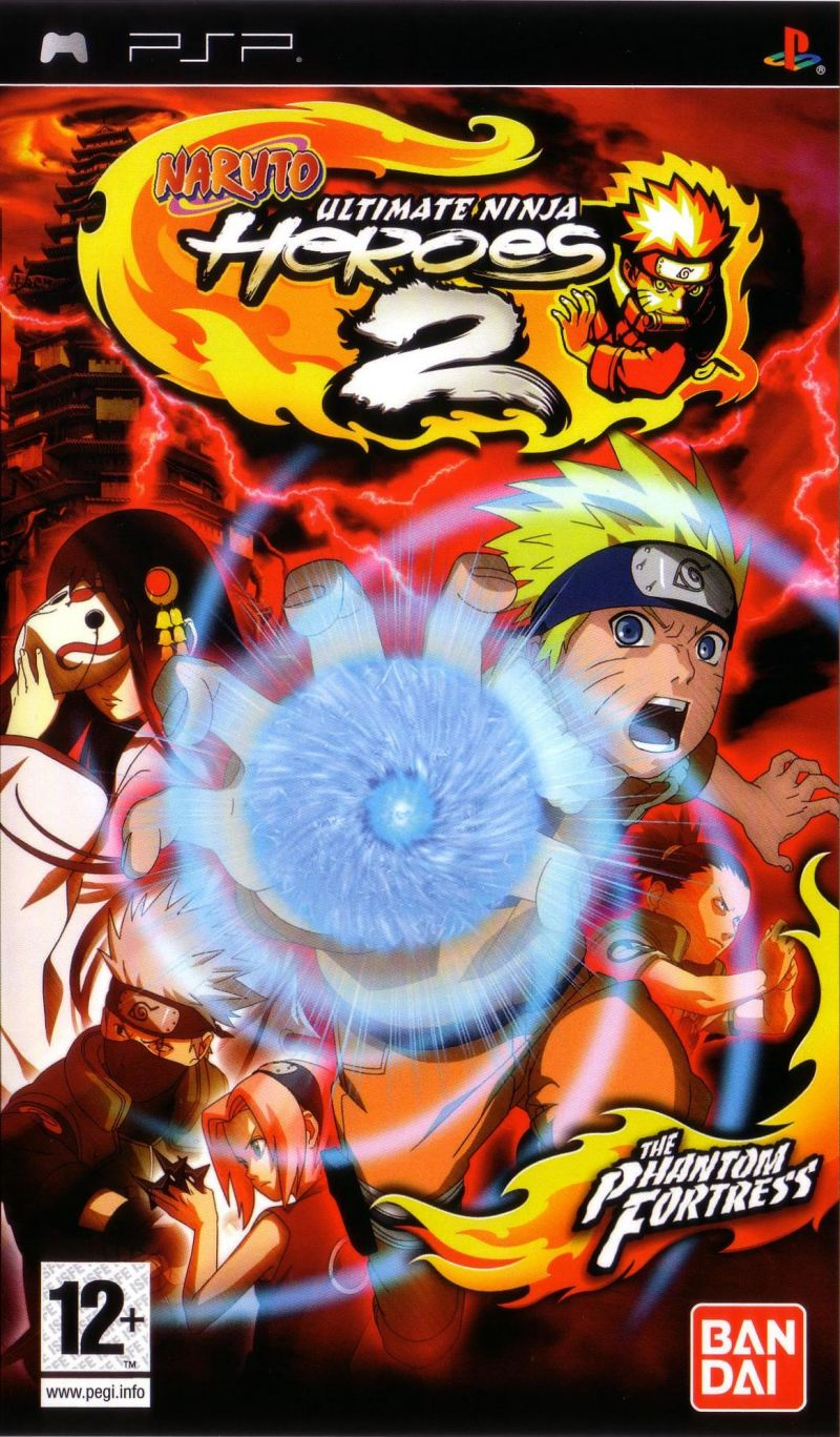 Naruto: Ultimate Ninja Heroes 2 - The Phantom Fortress PSP Front Cover