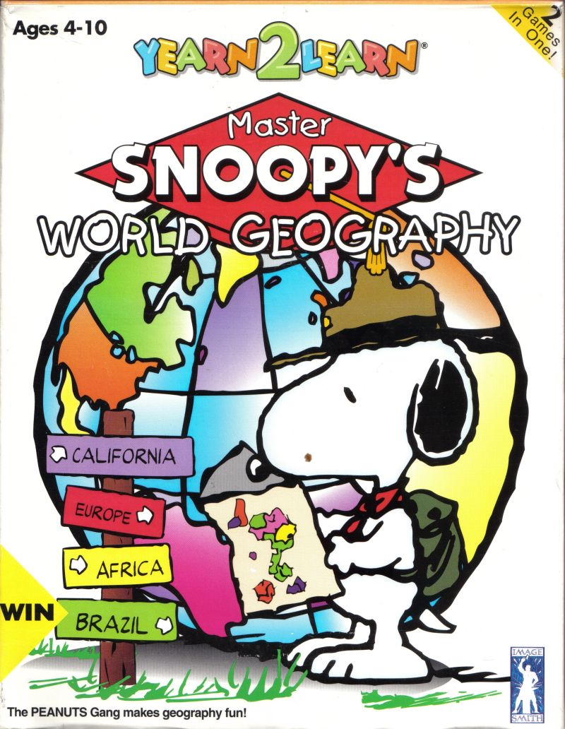 Yearn2Learn: Master Snoopy's World Geography Windows 3.x Front Cover
