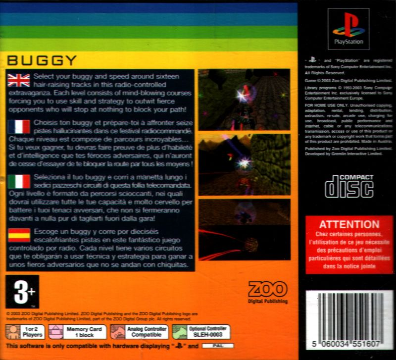 Buggy PlayStation Back Cover