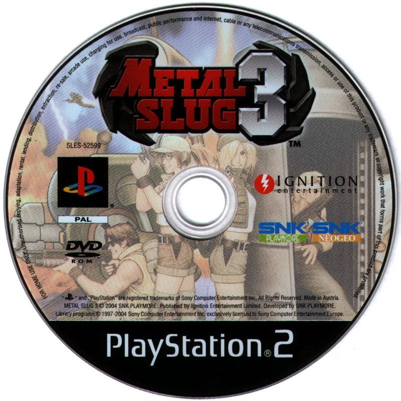 Metal Slug 3 PlayStation 2 Media