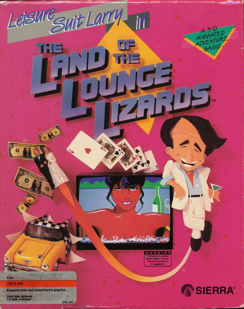Leisure Suit Larry in the Land of the Lounge Lizards Apple IIgs Front Cover