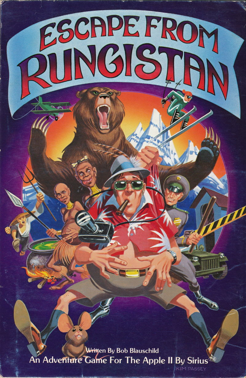 Escape from Rungistan Apple II Front Cover