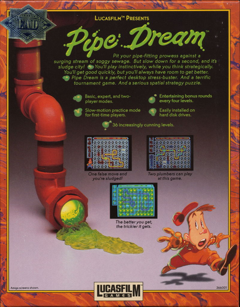 Pipe Dream Amiga Back Cover