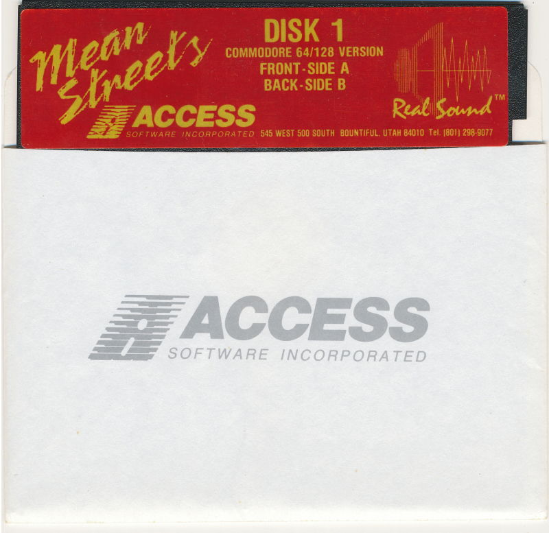 Mean Streets Commodore 64 Media Disk 1/2