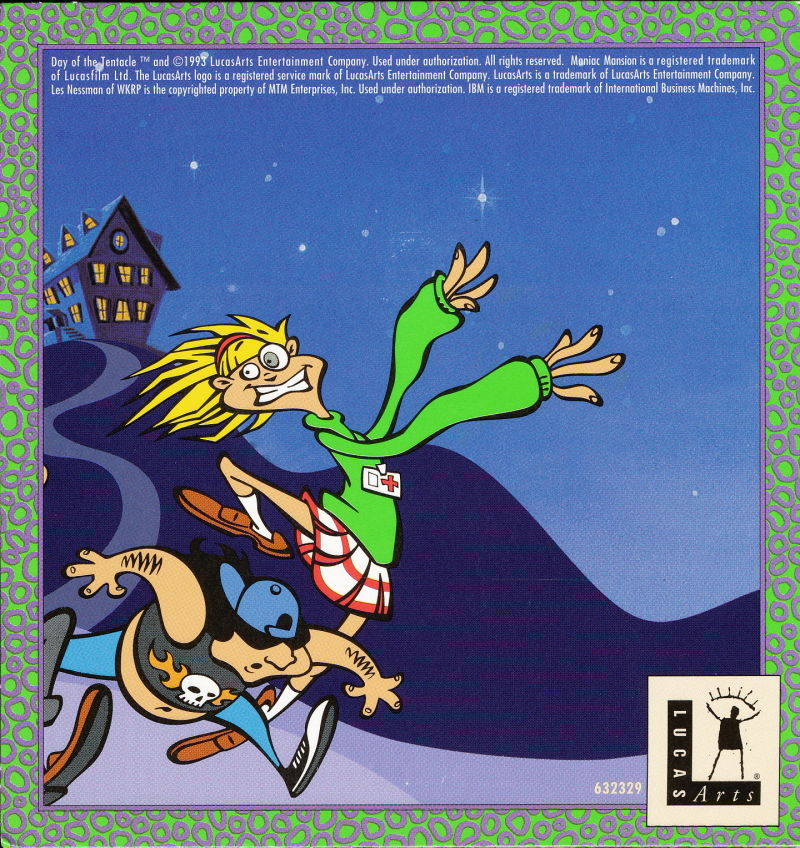 Maniac Mansion: Day of the Tentacle Macintosh Other CD sleeve Back