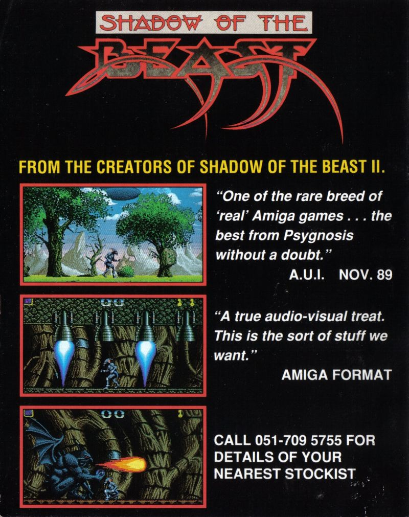 Shadow of the Beast II Amiga Inside Cover Right