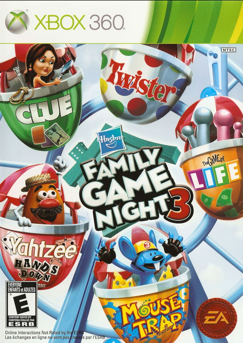 Hasbro Family Game Night 3 Xbox 360 Front Cover