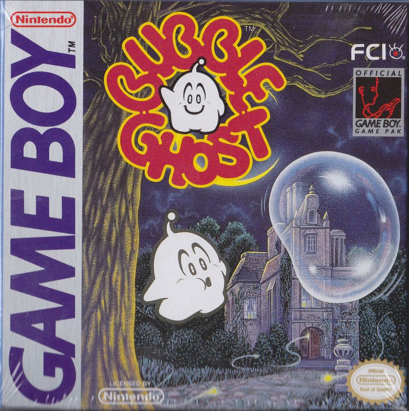 Bubble Ghost Game Boy Front Cover