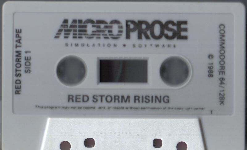 Red Storm Rising Commodore 64 Media Red Storm Tape