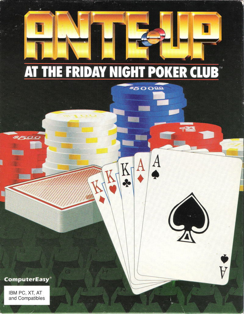 Ante-Up at The Friday Night Poker Club DOS Front Cover