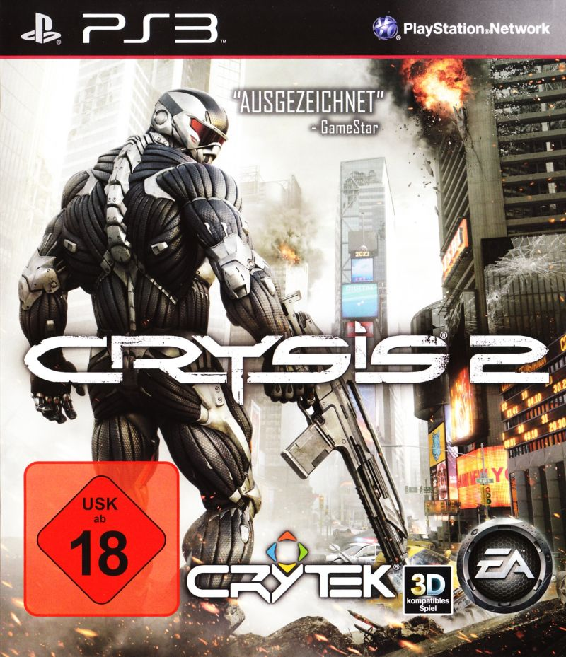 Crysis 2 PlayStation 3 Front Cover