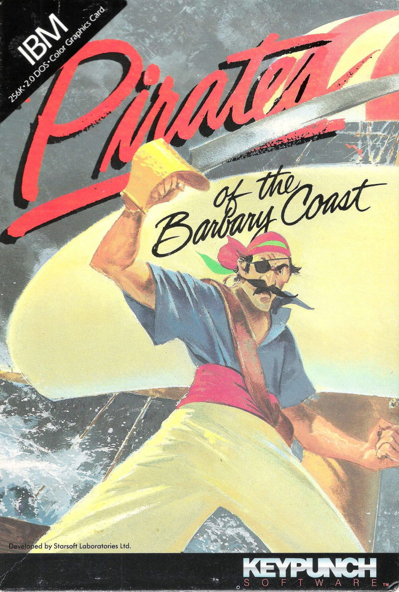 Pirates of the Barbary Coast DOS Front Cover