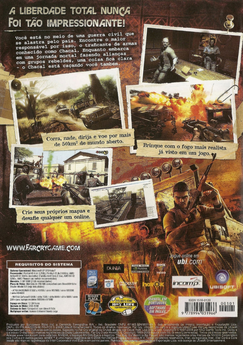 Far Cry 2 Windows Other Keep Case optional - Back