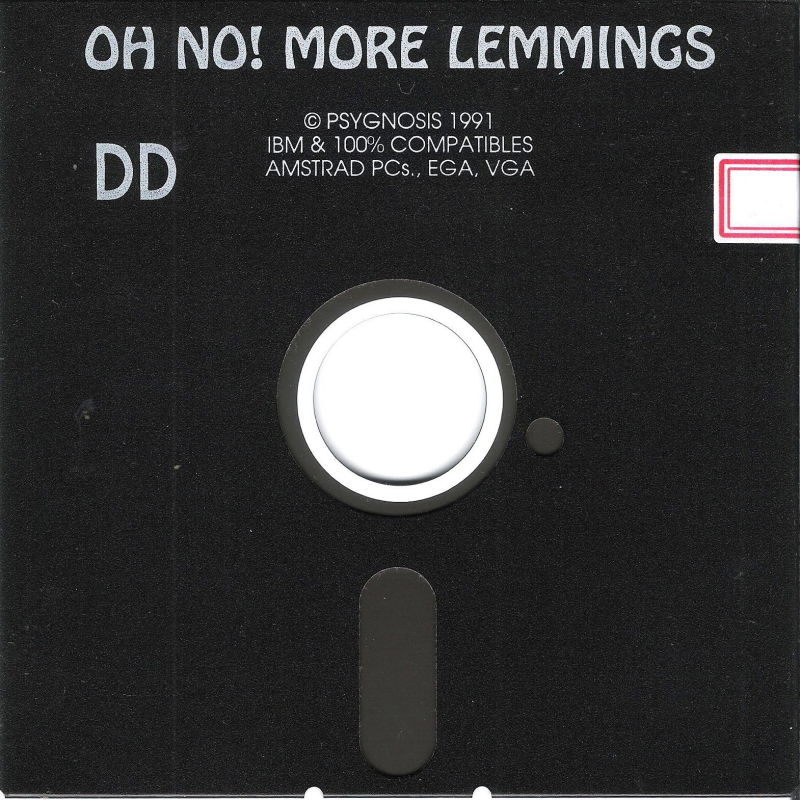 """Oh No! More Lemmings DOS Media 5.25"""" Disk (1/2)"""