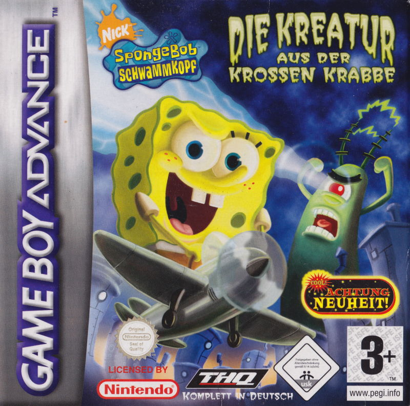 SpongeBob SquarePants: Creature From the Krusty Krab Game Boy Advance Front Cover