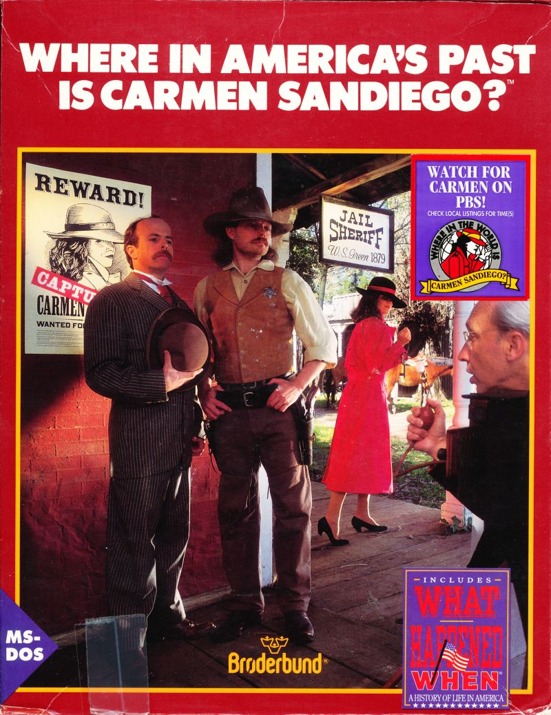 Where in America's Past is Carmen Sandiego? DOS Front Cover