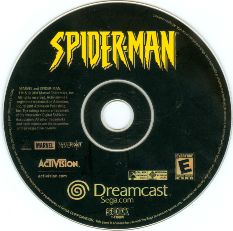 Spider-Man Dreamcast Media