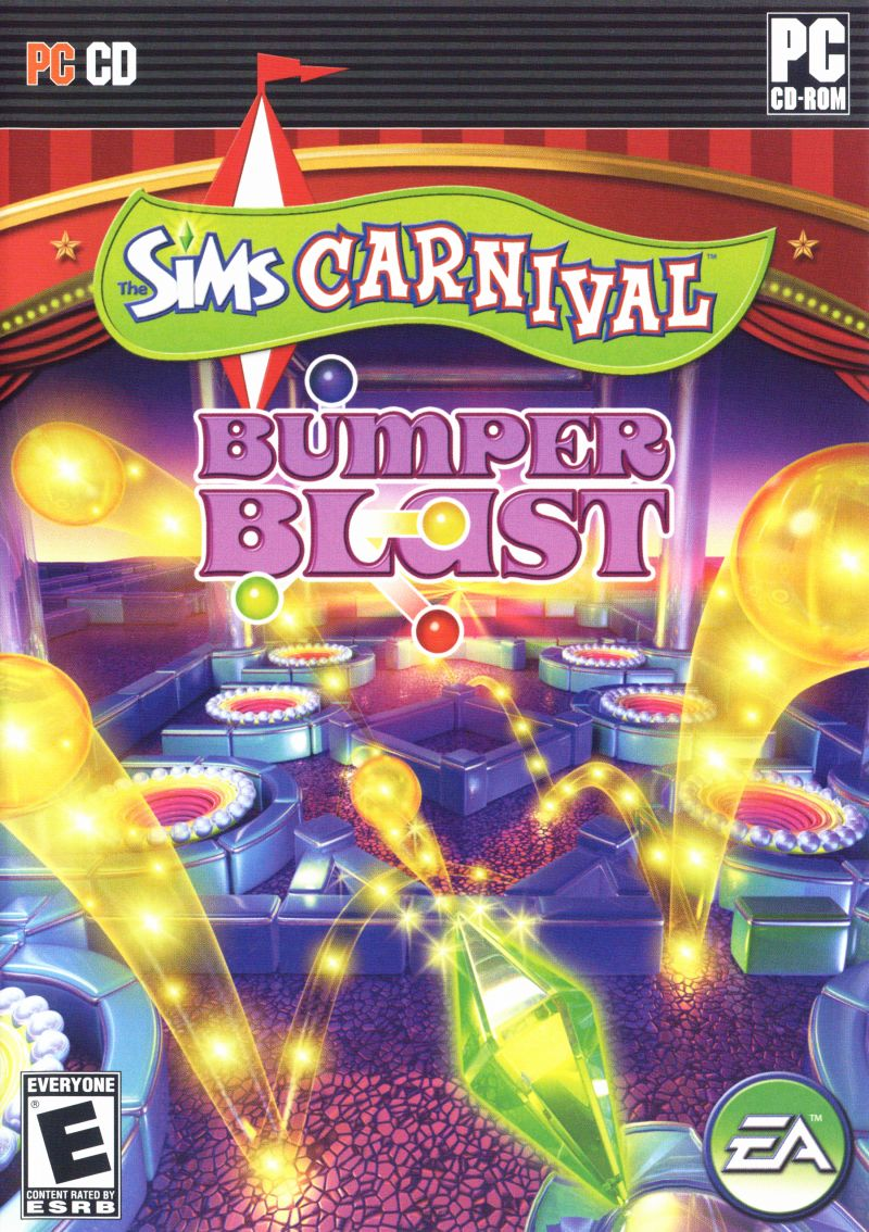 The Sims: Carnival - Bumper Blast Windows Front Cover