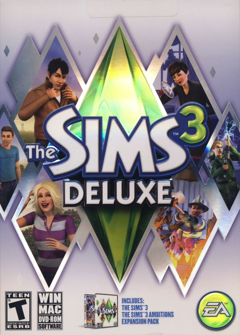 The Sims 3 Deluxe Macintosh Front Cover