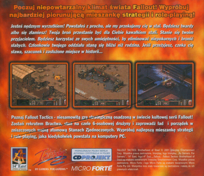 Fallout Tactics: Brotherhood of Steel  Windows Other Jewel case - back cover
