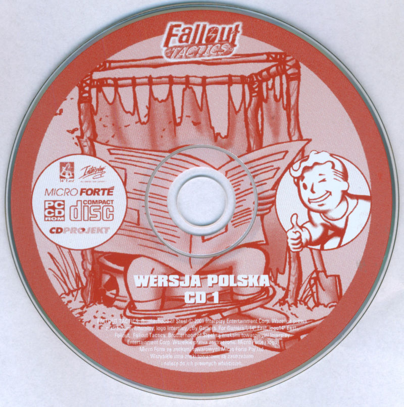 Fallout Tactics: Brotherhood of Steel  Windows Media Game cd 1/3