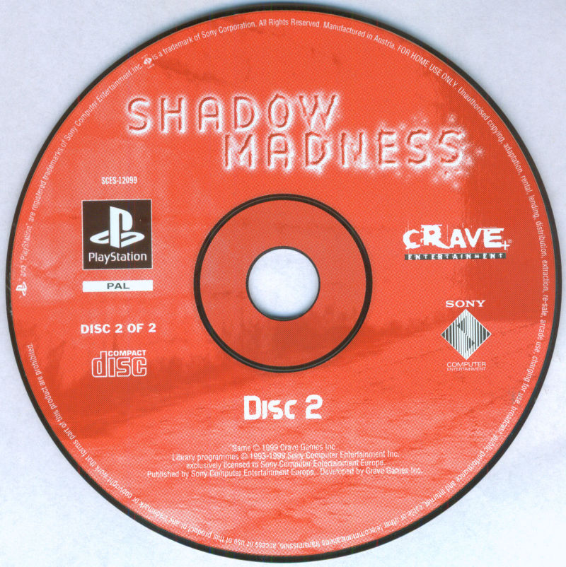 Shadow Madness PlayStation Media Disc 2/2