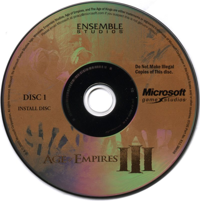 Age of Empires III: Complete Collection Windows Media Disc 1 of 5 (Install Disc)