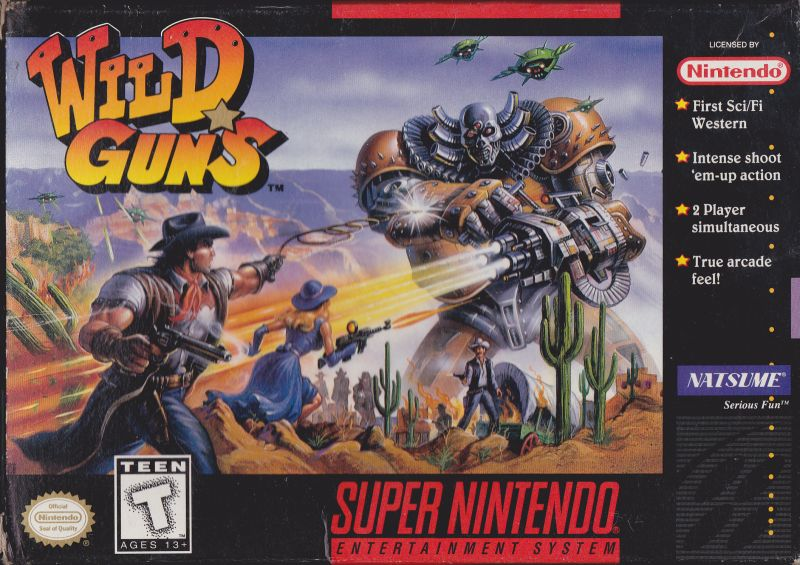 Wild Guns SNES Front Cover