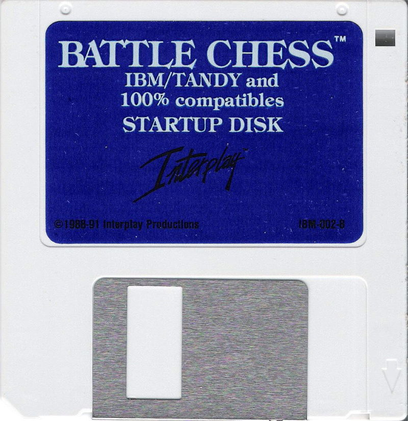 "Battle Chess DOS Media 3.5"" Disk (1/2) (1 -- Startup Disk / 2 -- Animation Disk)"