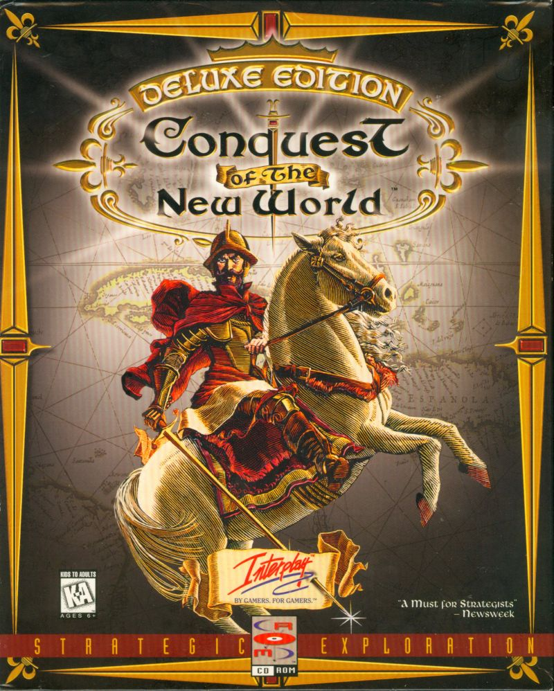 Conquest of the New World: Deluxe Edition DOS Front Cover