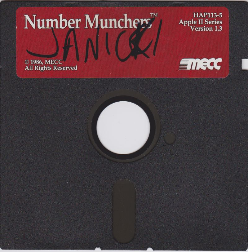 Number Munchers Apple II Media