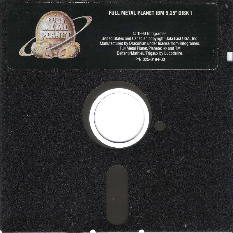 Full Metal Planete DOS Media Disk (1/4)