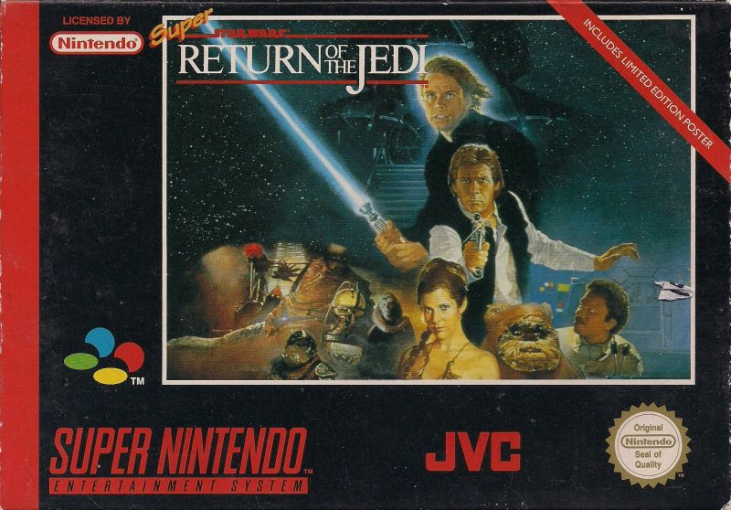 Super Star Wars: Return of the Jedi SNES Front Cover